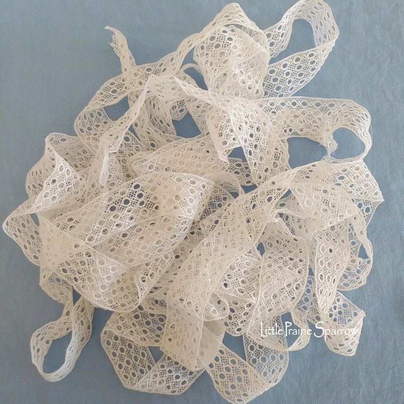 Vintage Lace Trim Sewing Craft Project Junk Journal image 0