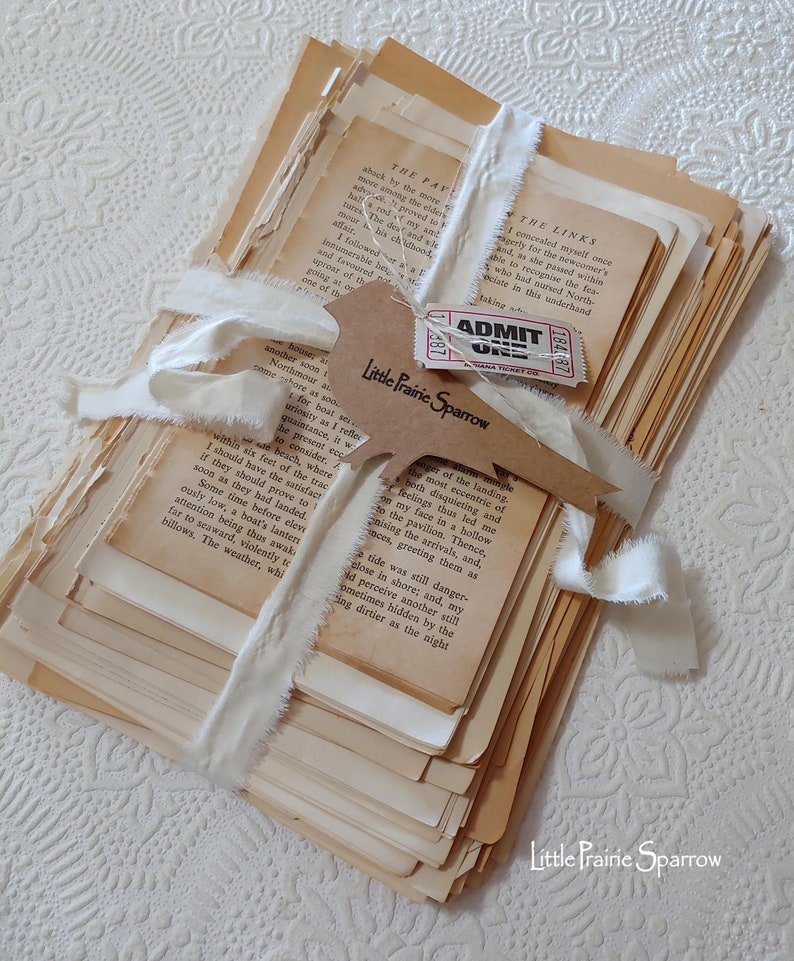 Vintage Book Page Bundle Junk Journal Paper Pack of 165 image 0