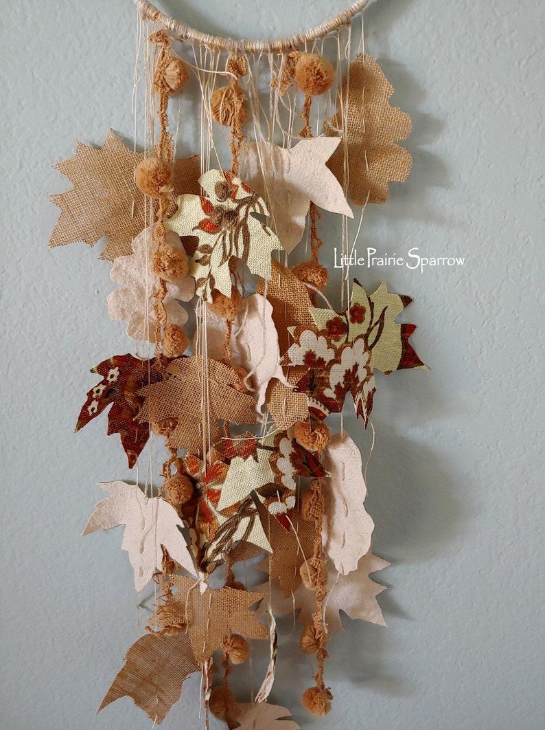 Fall Wreath Burlap Garland Hanging Rustic Wedding Prop image 0