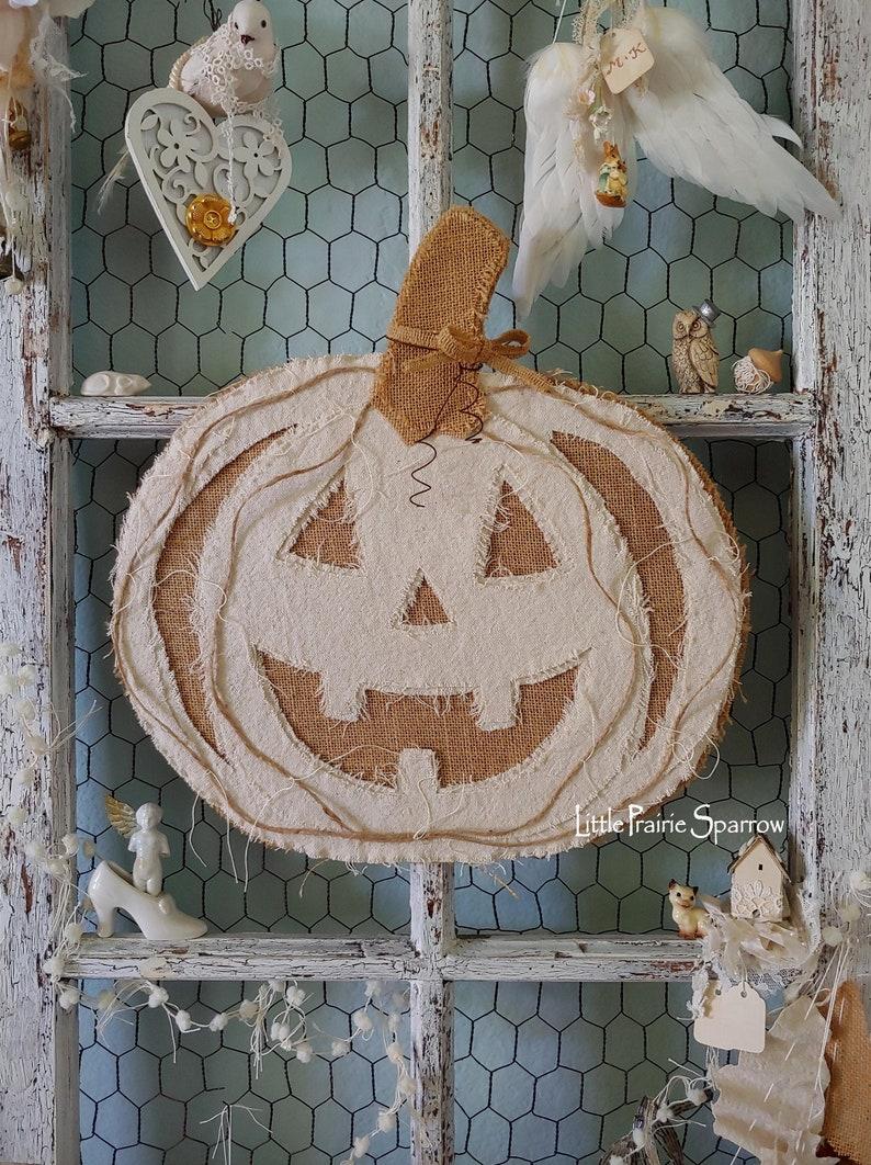 Pumpkin Hanging Fall Farmhouse Decor Autumn Wedding Prop image 0