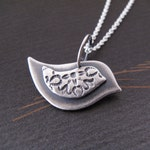 Mama Bird Necklace - sterling silver bird necklace - new mom present