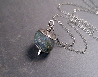 Bryn Necklace - Glass and Sterling Silver