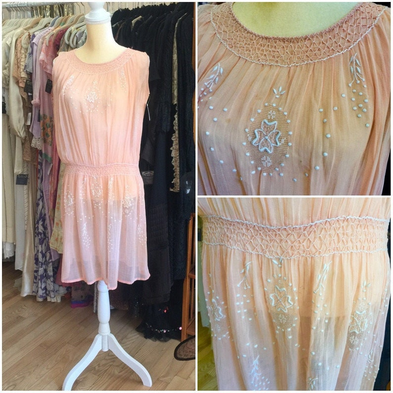 1920s Gatsby Flapper Hungarian Embroidered  Bohemian Dress in image 0
