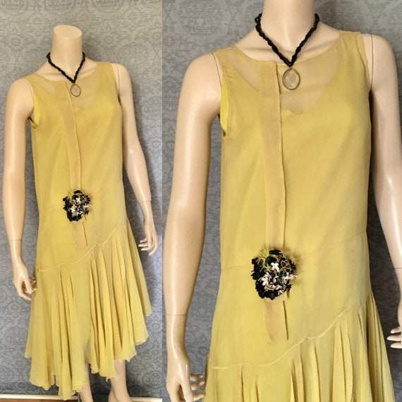 Charming 1920s Silk Chiffon Gatsby Occasion Dress,