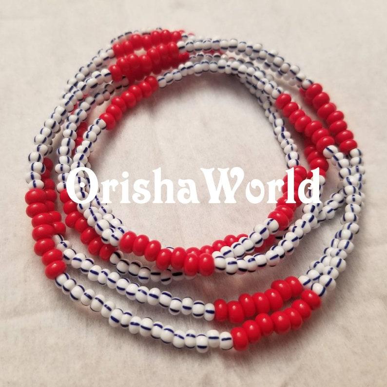 Collar Eleke Orisha Babalu Aye Babaluaye Allano San Lazaro Lazarus Asojuano  - Santeria Ifa African Spiritual Beaded Necklace - Czech Beads