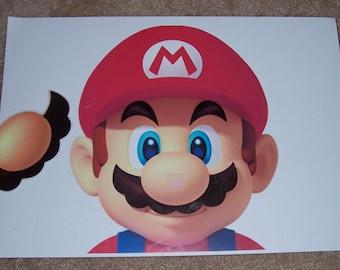 New Super Mario Bros Pin the Nose on Mario Game