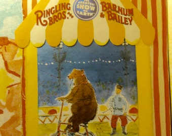 Circus Themed Junk Journal: The Russian Bear