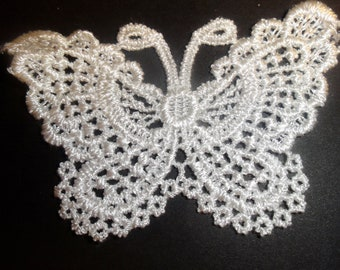 Large buttterfly embroidered applique.