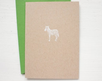 kraft ZEBRA folded notecards