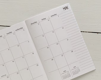 2022 monthly planner | 2 pages per month