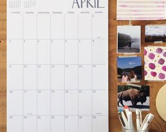 Large Wall Calendar Etsy