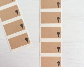 kraft labels - ice cream cone