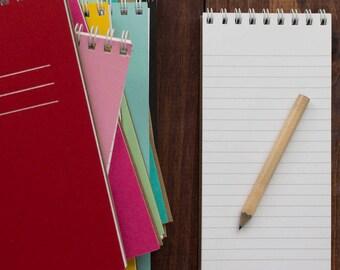 pressed mini reporter notebooks - set of 2