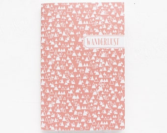personalized notebook | dot grid, lined or blank | mountain pattern