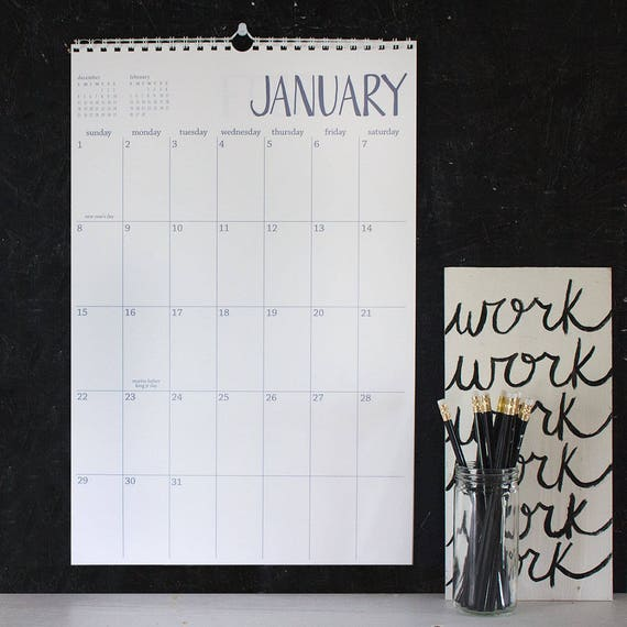 large wall calendar - you choose the start month - 13 months