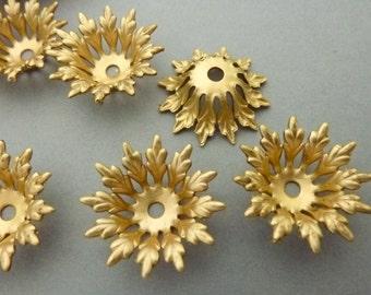 4 Flower Settings - Riveting Brass
