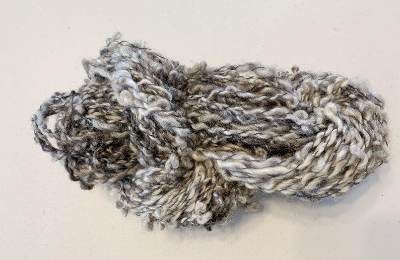 Handspun Art Yarn Coils Saori Freeform Natural Colored Outerwear Home Furnishing 20-2-17
