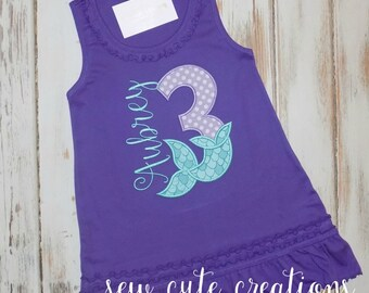 Mermaid Birthday Dress, Mermaid Tail Dress, Mermaid Tail Birthday Dress, Mermaid outfit, Mermaid birthday outfit, sew cute creations