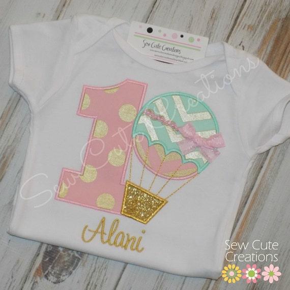Balloon Cute Shirt Girl Birthday Sew Hot Outfit Air Creations Boy bf67gy