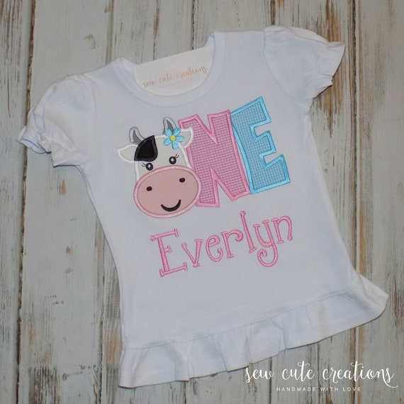 First Birthday Outfit Farm Birthday Girl Outfit Cow Birthday Outfit 2nd Birthday Outfit Two Cute Farm Birthday Outfit