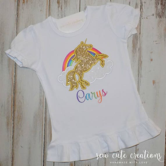 Unicorn Birthday Shirt Rainbow