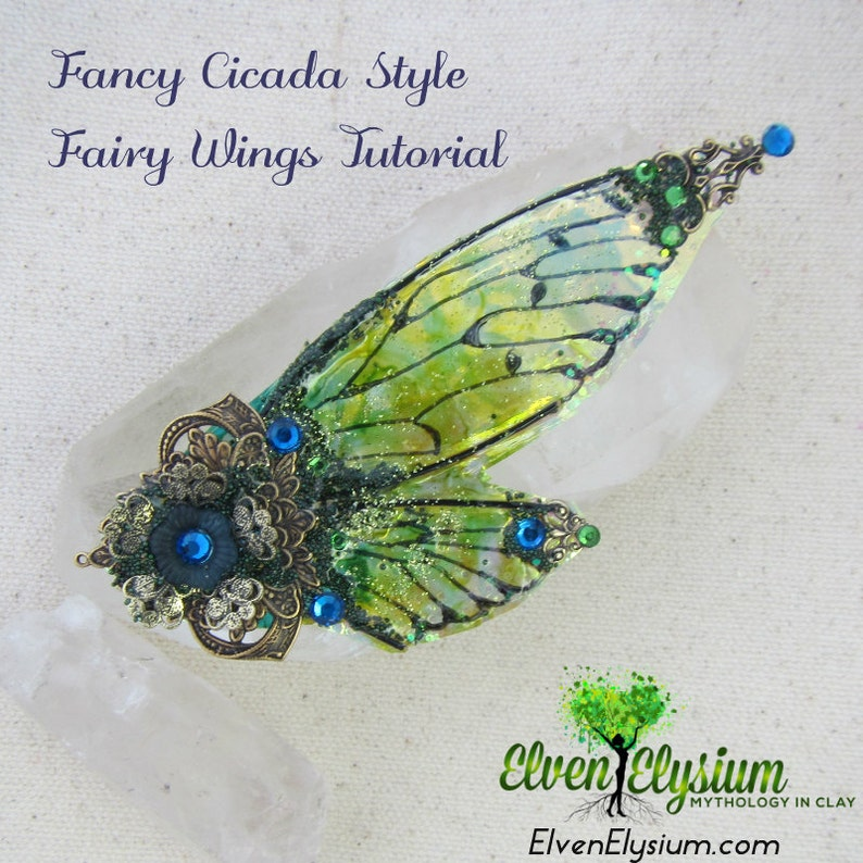 DIY how to create fancy fairy wings for polymer clay dolls or image 0
