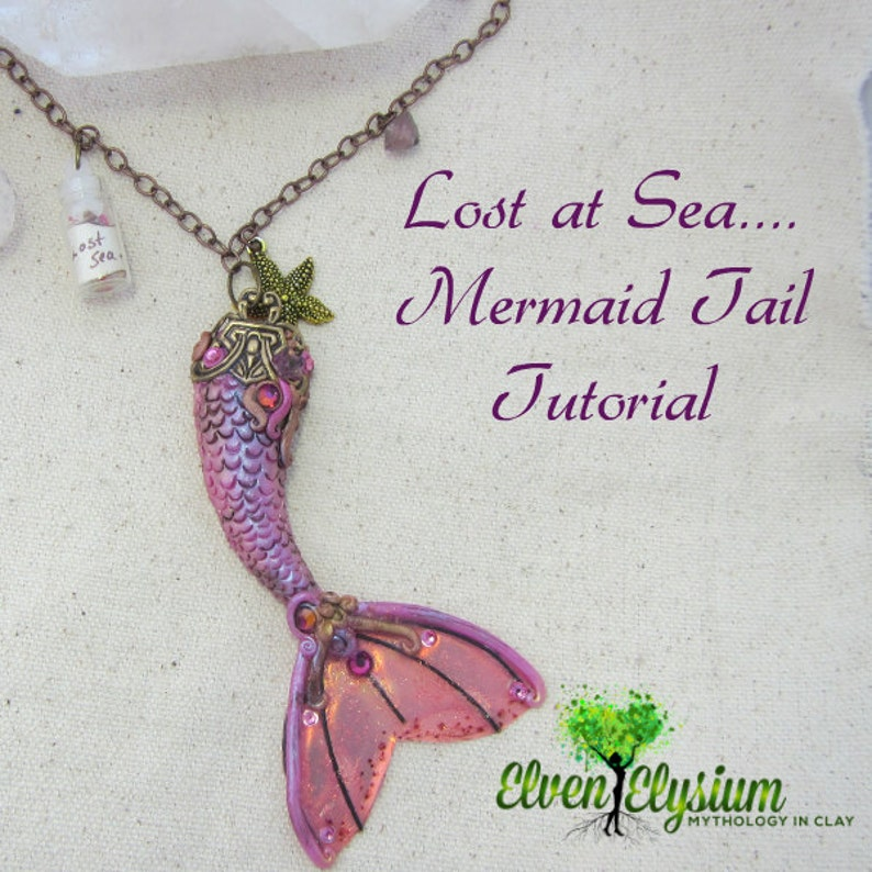 Polymer Clay Mermaid Tail Tutorial.  Instructions for image 0
