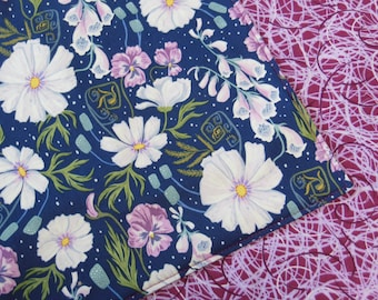 Night Blooms Reversible Cloth Lunch Napkin Set