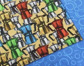 Coffee Urn Pot Percolator Reversible Cloth Lunch Napkin Set