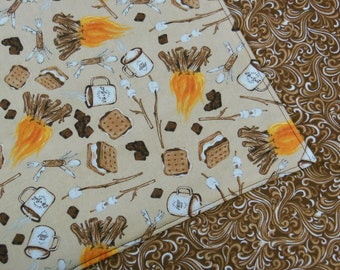 Campfire S'mores Reversible Cloth Lunch Napkin Set