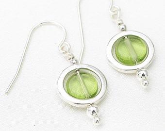 Circles earrings - olivine