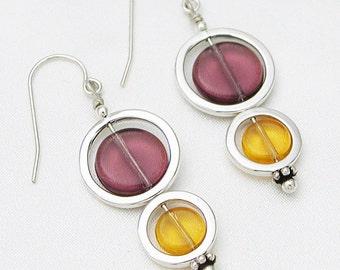 Double circle earrings - royal