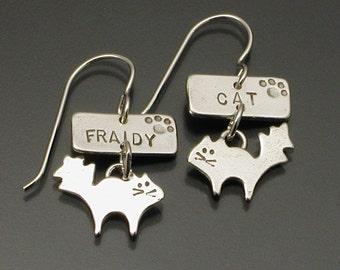 Fraidy Cat earrings