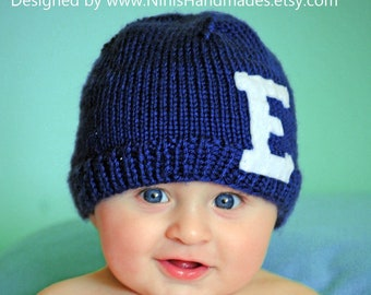 48e53e53327 Personalized Beanie with Initial of your choice