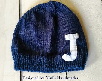 74924ea97a699 Personalized Beanie with Initial of your choice