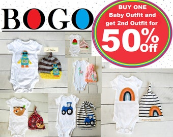46b341021d80e8 BOGO Listing Buy One Baby Outfit Listing and Get 2nd Baby Outfit Listing  for 50% Off!!! FREE SHIPPING!!! Sale!! Babu Bogo deals