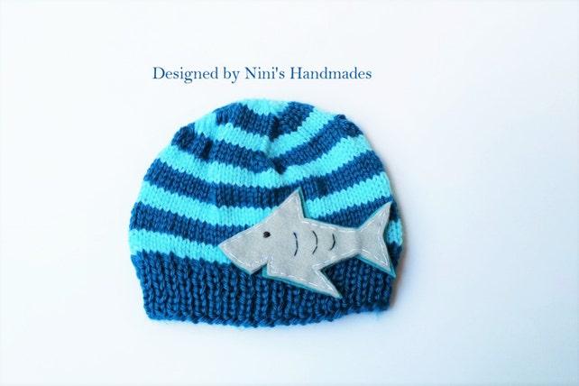 Knit Shark Kids Beanie Shark Kids Apparel Shark Hat Quality Etsy