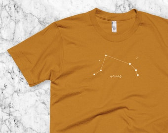 Aries T-Shirt, March or April Birthday Zodiac birthday gift, Astrological sign Aries Constellation tshirt, Men or Women gift idea