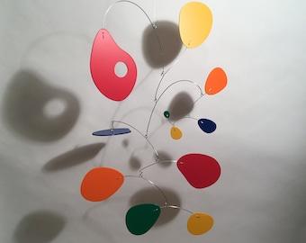 Art Mobile Jujumo MN Modern Hanging Sculpture Home Decor Sculpture Art Colorful 27h x16w