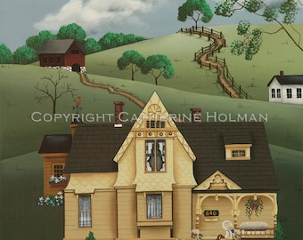 Folk Art Print Fairhill Farm