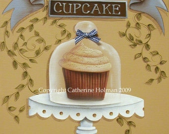 Cupcake Art Print Snickerdoodle by Catherine Holman