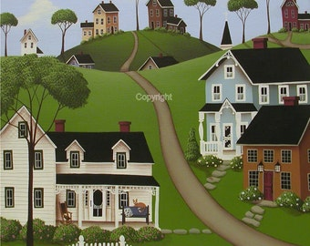 Folk Art Print Higginsville