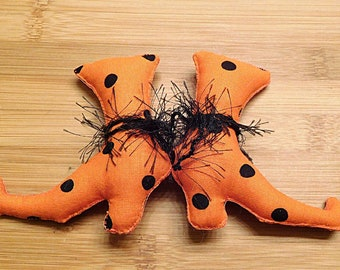 Halloween Orange Witch Boots  /  Spooky Ornaments  /  Witch Shoes  /   Fabric Shoes  /  Primitive Bowl Fillers  /  Wreath Embellishments