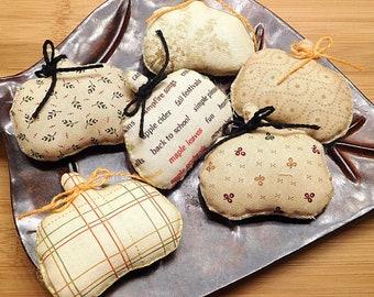 Fall Small Pumpkins  /  Primitive Bowl Fillers  /  Wreath Decorations  /  Thanksgiving Pillow Tucks