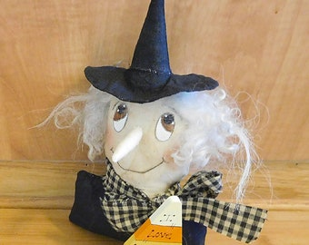 Halloween Witch Sitter  /  Primitive Bowl Filler  /  Spooky Decorations  /  Table Decorations