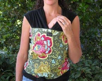 Baby Sling-ORGANIC BABY Wrap Sling Carrier-Rose-DvD Included-One Size Fits All