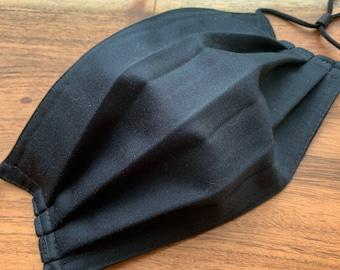Reusable Cotton face mask-washable-allergy blocker- Black