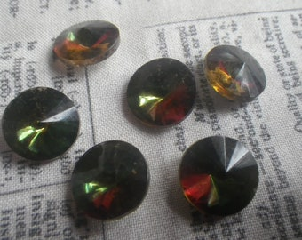 Faceted Round Mirror Glass Foiled cabochons 20mm WS003 Wholesale 151 Pcs