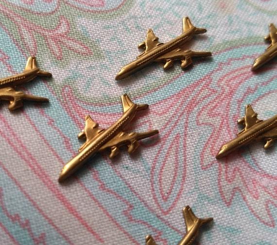 Harpy Rampant Patina Brass Charms 27x10mm 4 Pcs