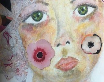 Fragments. Original Mixed Media Art